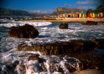 Cape Town's St. James Bathing Boxes along False Bay