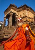 Nepali Sadhu (Hindu holy man) near Durbar Square