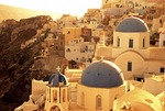 Oia churches on Santorini