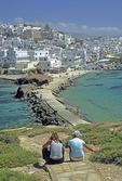 Naxos town from Palatia Islet