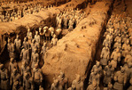Xian's Qin Shi Huangdi museum terra cotta army pit number 1