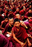 Lhasa's Drepung Monastery, novice monks in school