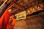 Xishuangbanna's Ba Jiao Ting Buddhist temple, near Jinghong, with young novice monks