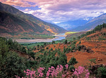 Jinshan (Golden Sands) River valley, the upper Yangtze in Yunnan province near the First Great Bend, north of Lijiang