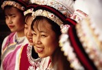 Bai nationality women in traditional dress