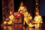 Luogo ensemble on stage at Tang dynasty performance of The Silk Road by Shaanxi Provincial Song & Dance Troupe