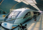 Shanghai Maglev train at Pudong station