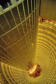 Shanghai's Jin Mao Tower (Golden Prosperity Building), atrium of the Grand Hyatt Shanghai Hotel, world's highest hotel