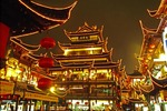 Shanghai's Old Town at night