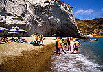 Ponza, secluded beach on the island