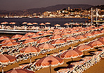 Cannes beach umbrellas