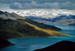 Sacred Yandrok Tso Lake between Lhasa and Gyantse
