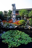 Suzhou's Lingering Garden (Liu Yuan) (aka Tarrying Garden) features stones from Lake Tai (Tai Hu)