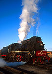 1950's vintage Construction model steam locomotive in northeast China