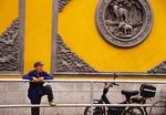 Shanghai's Jade Buddha Temple exterior wall