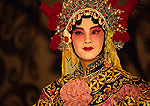 Beijiing (Peking) Opera performer on stage at Liyuan Theater in the Qianmen Hotel