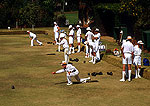 Johannesburg's Wanderers private club lawn bowlers