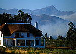 Cape Dutch house and vinyards at Tulbagh in the Valley of Waveren area of the Winelands