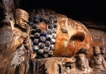 Dazu's Reclining Buddha (Buddha in Nirvana) with Disciples at Baodingshan No. 11 grotto