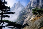 Huangshan (Yellow Mountain), Lotus Flower Peak (Lianhua Feng) with Bright Summit Peak (Guangming Ding) in background