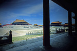 Beijing's Forbidden City courtyard fronting Hall of Supreme Harmony in the Imperial Palace Museum