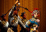 Beijing Opera performance on stage of the Liyuan Theater at the Qianmen Hotel