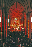 Beijing's Xishuku Catholic Cathedral during Sunday morning mass in 1988