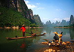 Li River cormorant fisherman near Yangshuo (Guilin area)