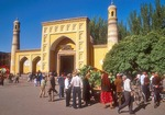 Kashgar's Idkah Mosque with local Uighurs