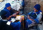 Lijiang Naxi nationality women playing cards