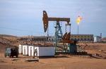 Xinjiang's Cainan Oil Field drilling rig in Junggar Basin