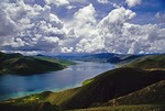 Tibet's Sacred Yandrok Tso Lake between Lhasa and Gyantse