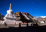 Lhasa's Potala Palace with new stupa in foreground
