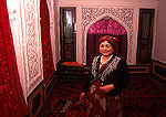 Kashgar home of wealthy Uygur woman, sitting room