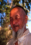 Uygur man in Shan Shan County near Turpan on the old Silk Road