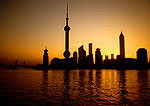 Shanghai's Pudong skyline at dawn