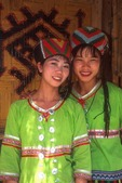 Hainan island Li nationality women at Li People Village