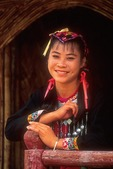 Hainan island Miao nationality woman at Doushuihe Miao village