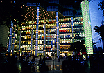 Shanghai's Nanjing Road pedestrian mall newly constructed Brilliance Shimao International Plaza in evening