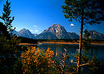 Mt. Moran and Jackson Lake in autumn