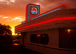66 Diner at sunset on Historic Route U.S. 66