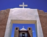 Taos Pueblo's San Geronimo (St. Jerome) Chapel built in 1850
