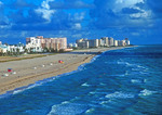 Miami Beach's Atlantic shoreline
