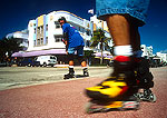 South Beach inline skaters in Art Deco district