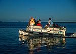 Florida Keys pontoon boat near Islamorada