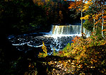 Michigan's upper Tahquamenon Falls in autumn, second highest waterfalls east of the Mississippi