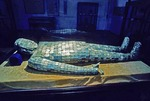 Nanjing Museum jade burial suit from Eastern Han dynasty sewn together with silver thread