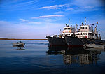 Fishing trawlers on  NE Inner Mongolian lake near Manzhouli