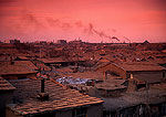 Polluted coal mining town near Manzhouli in NE Inner Mongolia