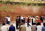 Beijing's Jingshan Park morning exercise group dancing